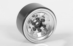 "Stamped Steel 1.0"" Stock Beadlock Wheels (Chrome)"