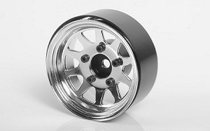 "OEM Stamped Steel 1.55"" Beadlock Wheels (Chrome)"