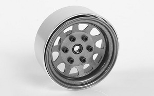 "Stamped Steel 1.7"" Beadlock Wagon Wheels (Clear)"