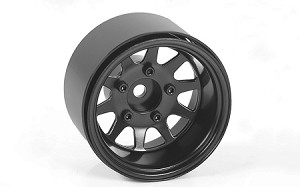 "Deep Dish Wagon 1.55"" Stamped Steel Beadlock Wheels (Black)"
