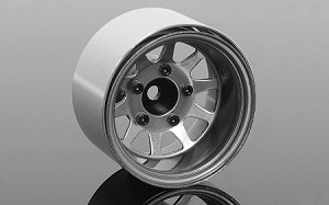 "Deep Dish Wagon 1.55"" Stamped Steel Beadlock Wheels (Clear)"