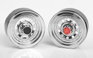 "Classic 10-Hole Chrome 1.9"" Beadlock Wheels"